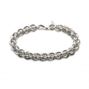 Silver Chain Bracelet 10mm