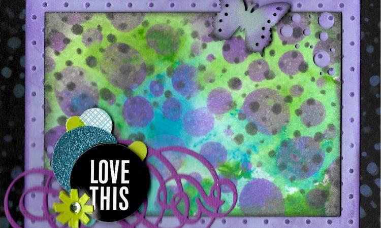 Confetti front card
