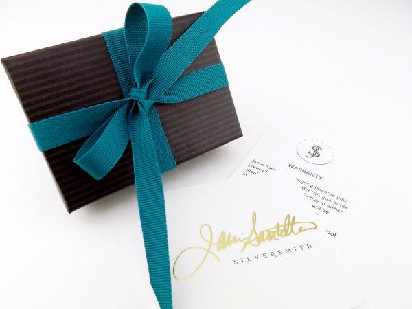 Packaging for Jamie Santellano Jewelry
