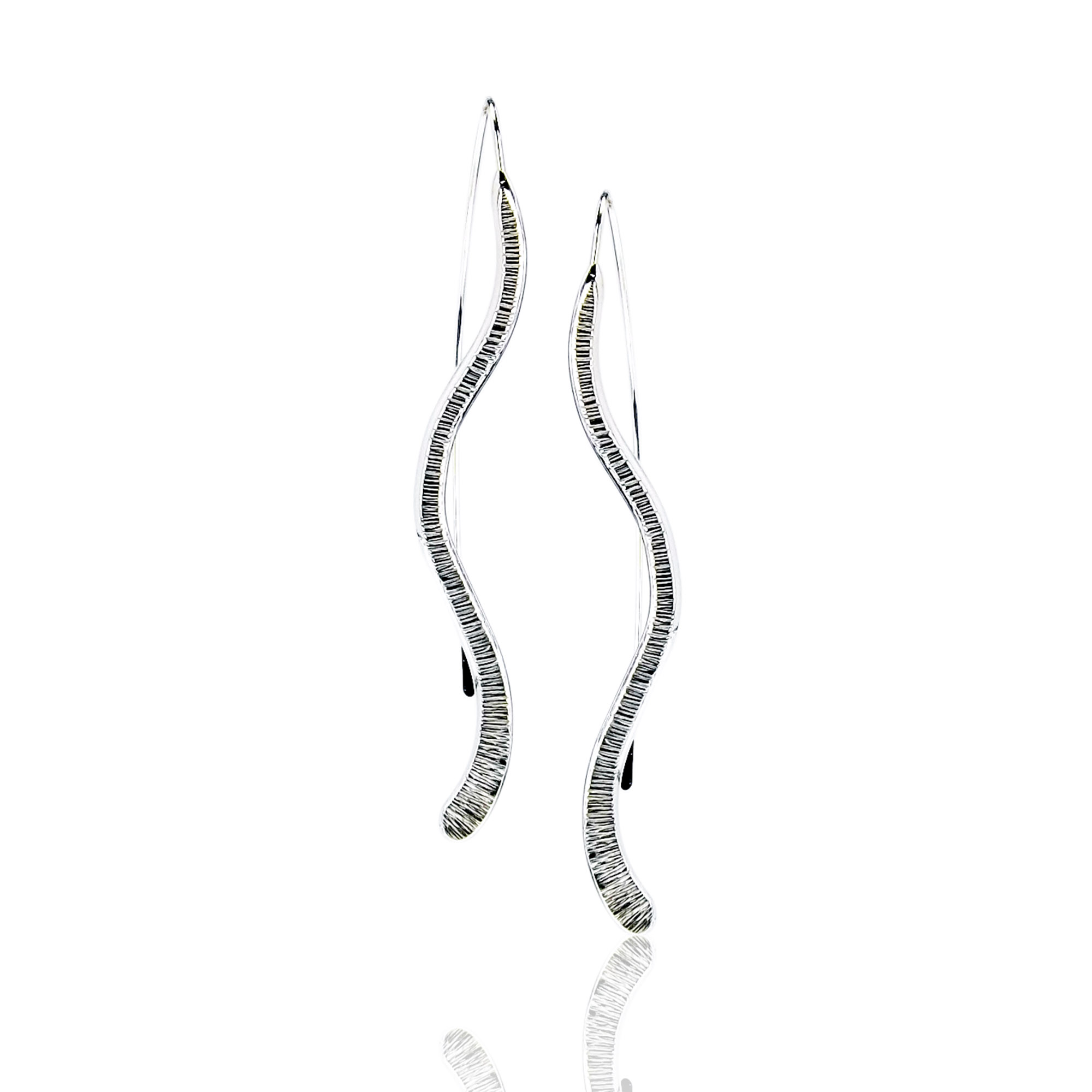Silver Wave Earrings1