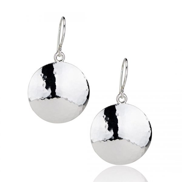 Picture of Small Silver Disc Earrings