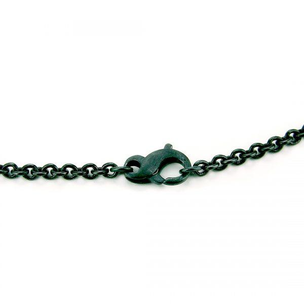 Figure 8 Clasp on Black Silver Drop Pendant Necklace