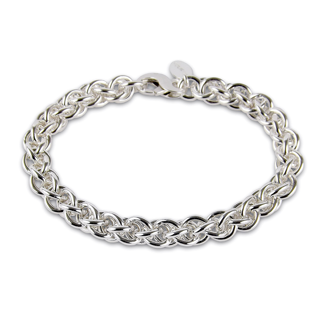 Image of silver chain bracelet size 8mm
