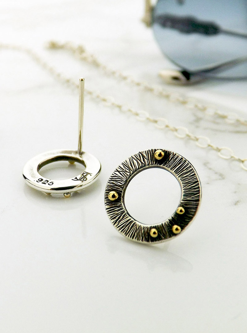 Featured Image of the Circle Stud Earrings