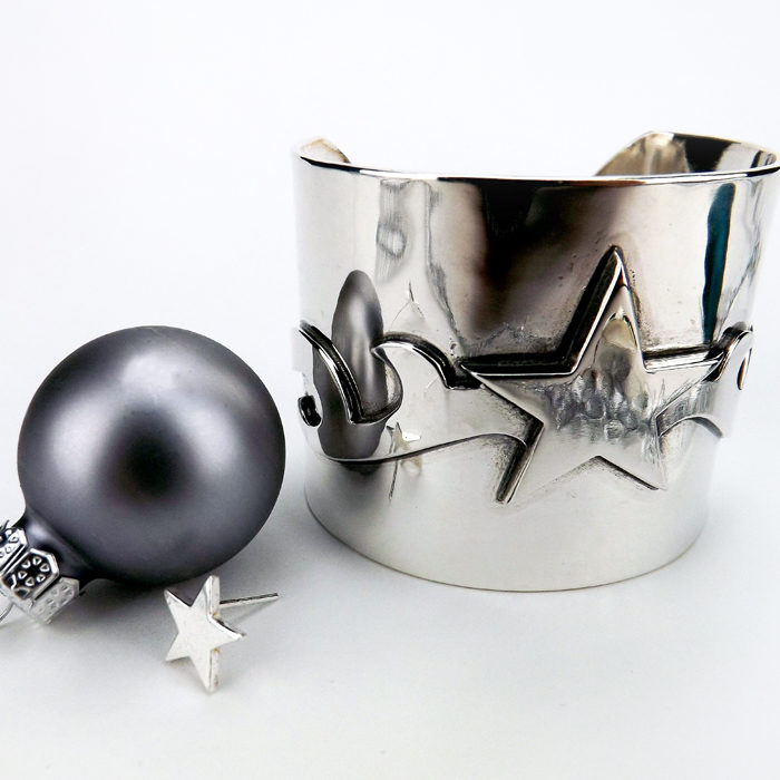 Star Cuff and Earrings